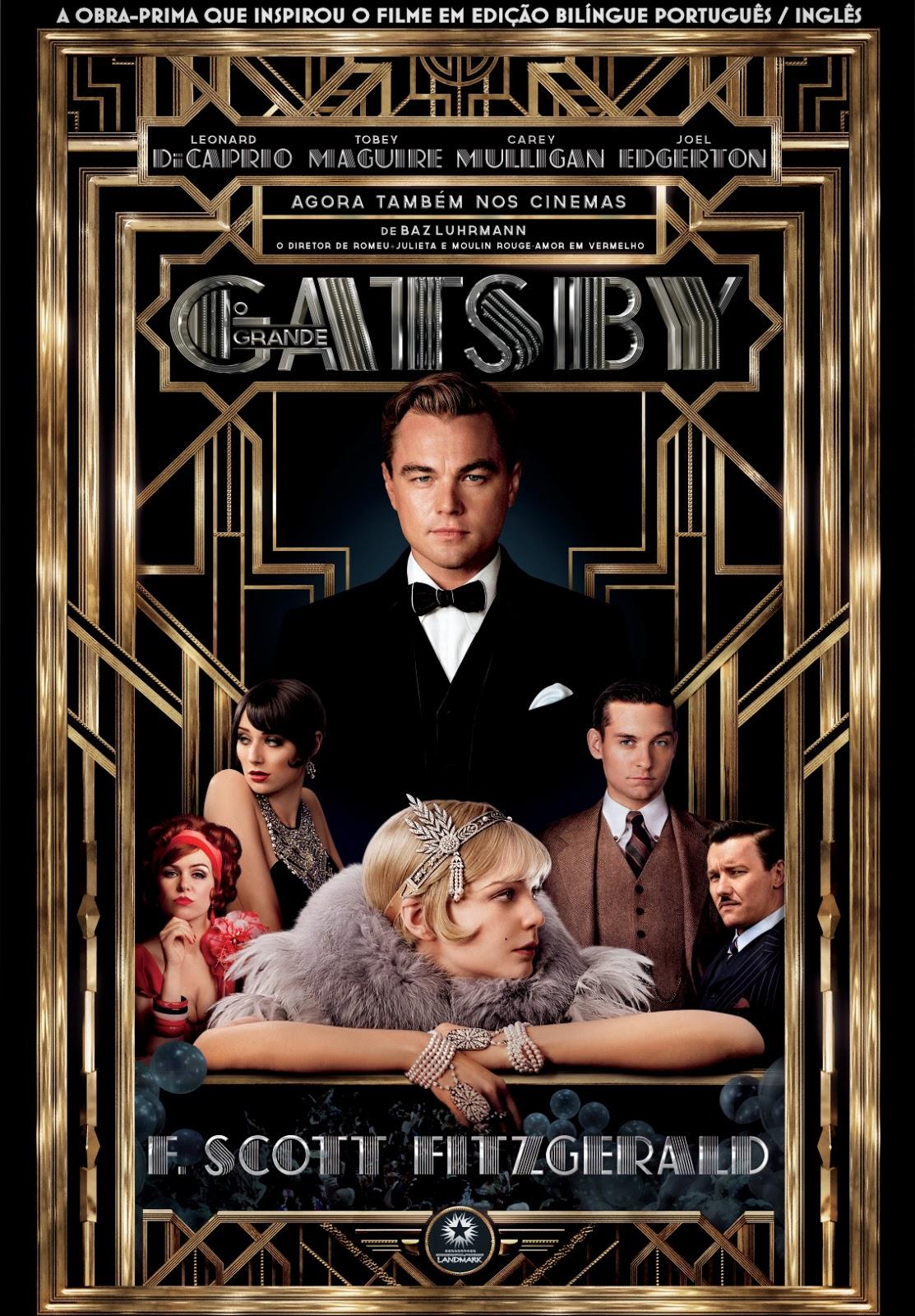 Leonardo DiCaprio na capa do filme Gatsby